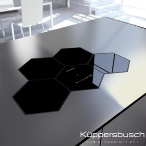 Bếp điện từ Kuppersbusch EKWI 3740.0S dạng tổ ong 4 mặt bếp nấu