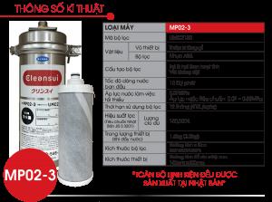 Lọc nước thương mại 150.000 lít MITSUBISHI CLEANSUI MP02-3